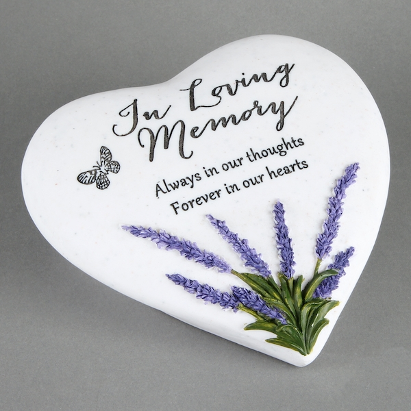 Thoughts Of You Heart Stone / Lavender - Loving Memory