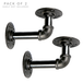 Rustic Pipe Wall Bracket - Set of 2 | M&W - Image 3