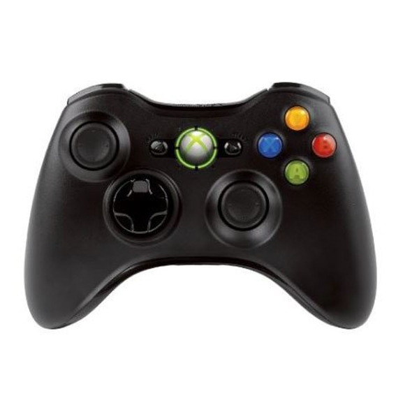 Black official Xbox 360 wireless controller (Damage Packaging) Used - Like New - Image 1