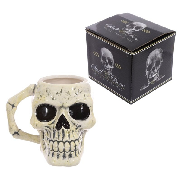 Fantasy Skull Head Shaped Ceramic Mug