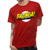 Big Bang Theory - Bazinga Men's Small T-Shirt - Red