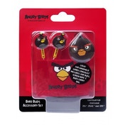 Angry Birds Black Bird Buds Crazy Character Gamer Ear Buds