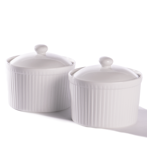 Ceramic Ramekins With Lid - Set of 2 | M&W