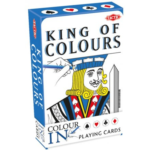Colour-in Playing Cards King/Queen - Singe Pack - Image 1