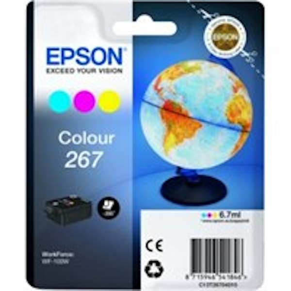 Epson C13T26704010 (267) Ink cartridge color, 200 pages, 7ml