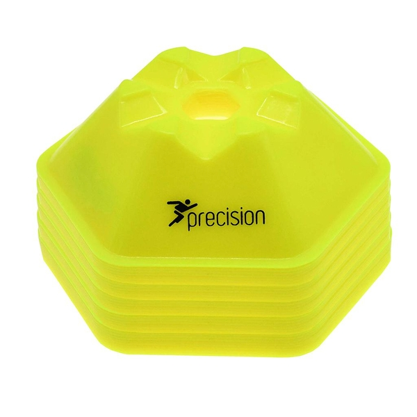 Precision Pro HX Saucer Cones Fluo Yellow: Set of 50