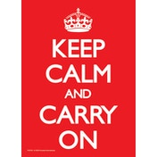 Keep Calm and Carry On - Red Postcard