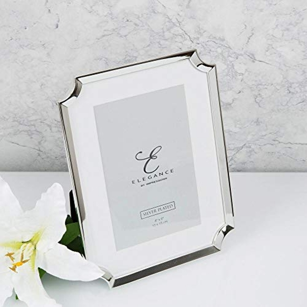 """4"""" x 6"""" - Elegance Silver Plated Scallop Edge Photo Frame"""