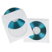 Hama CD/DVD Paper Sleeves, pack of 100, White