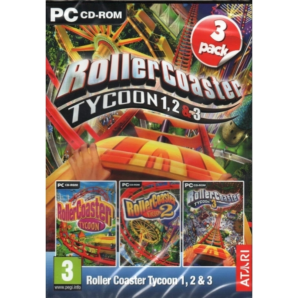 Rollercoaster Tycoon 1, 2 & 3 PC Game - shop4megastore com