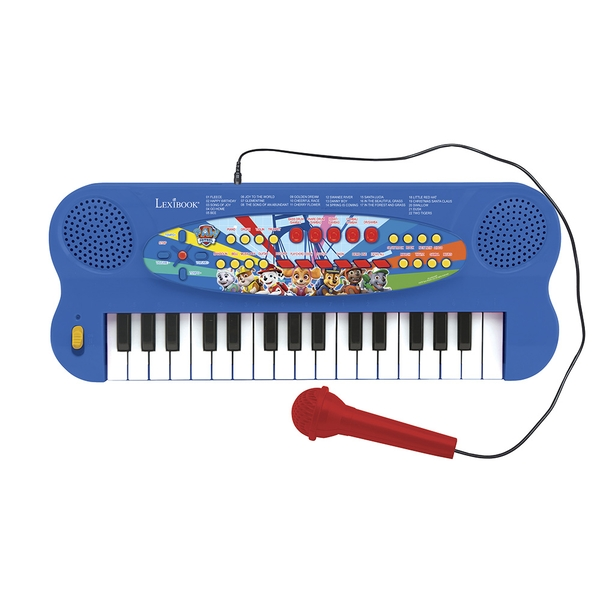 Paw Patrol Electronic Keyboard with Mic and Line-In Cable (32 keys)