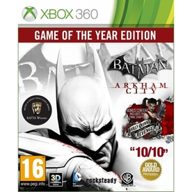 Batman Arkham City Game of the Year Edition GOTY Game Xbox 360