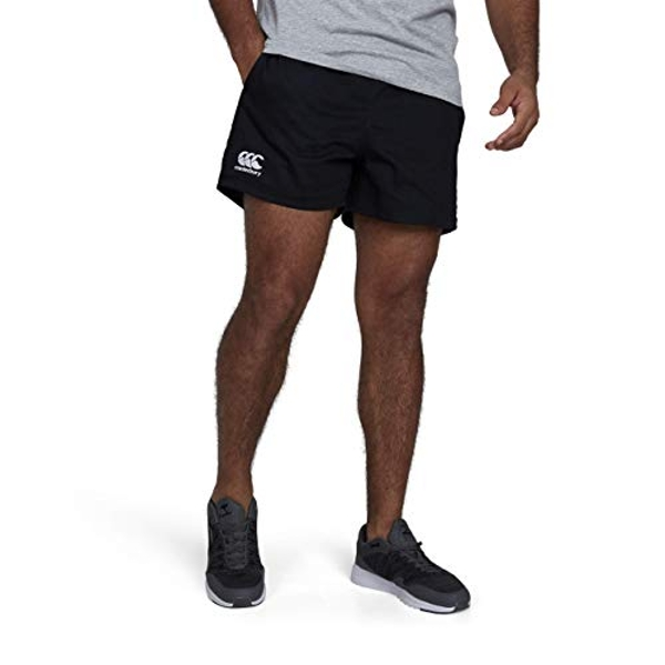Canterbury Men's Professional Cotton Rugby Shorts, Black, Small