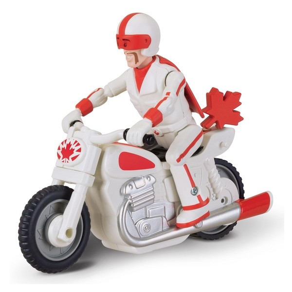 Toy Story 4 - Pullback Duke Caboom with Motorcycle 10 cm Figure