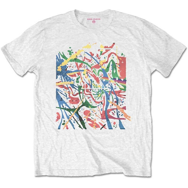 Pink Floyd - Pollock Prism Unisex Small T-Shirt - White