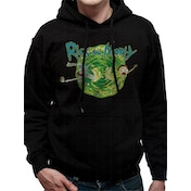Rick And Morty - Black Portal Men's Small Hooded Sweatshirt - Black