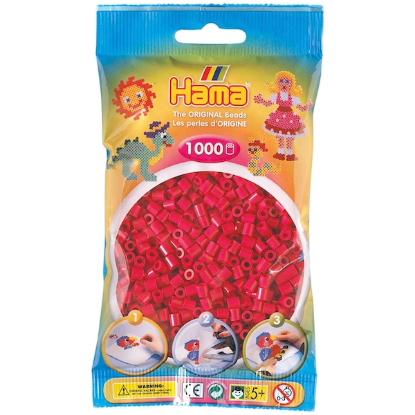 Hama - 1000 Beads in Bag (Claret)
