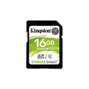 Kingston Technology Canvas Select memory card 16 GB SDHC Class 10 UHS-I