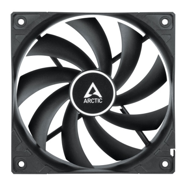 Arctic F12 12cm PWM PST Case Fan, Black, 9 Blades, Fluid Dynamic, 230-1350 RPM, 6 Year Warranty