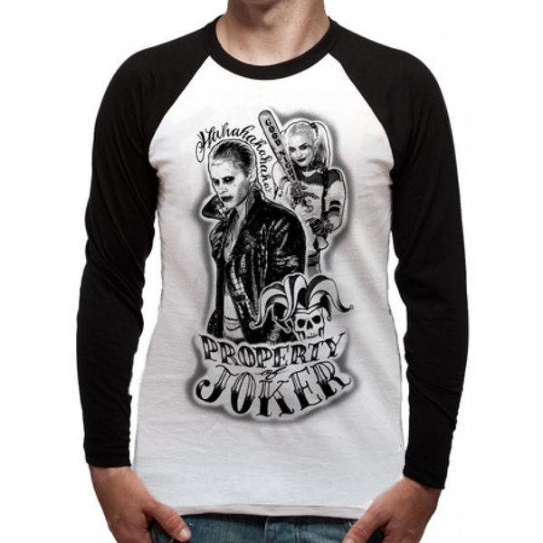 Suicide Squad - Property Of Unisex Small T-Shirt - White