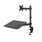 StarTech Single Monitor Articulating Full Motion Desktop Mount with Laptop Stand
