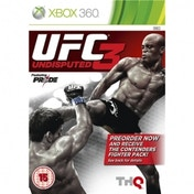 UFC Undisputed 3 With Pre-Order Bonus Contenders Fighter Pack Game Xbox 360