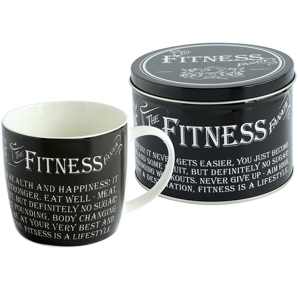 Ultimate Gift for Man Mug in a Tin Fitness Fanatic