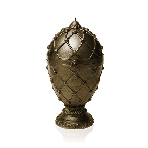 Brass Faberge Egg Large Candle