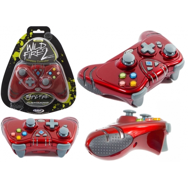 Datel Ruby Red WILDFIRE 2 Wireless Controller Xbox 360 - Image 3
