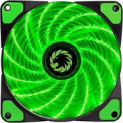 Game Max Storm Force 15 x Green LED 12cm Cooling Fan With Hydraulic Bearings
