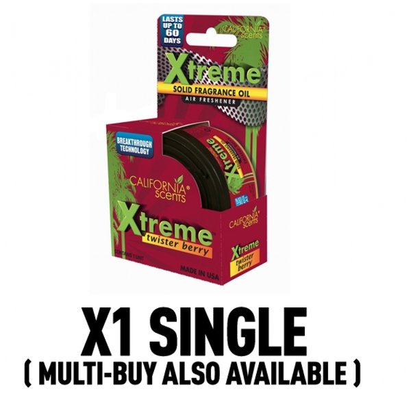 California Scents Xtreme Twister Berry Car/Home Air Freshener
