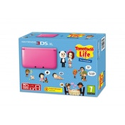 3DS XL Console Pink with Tomodachi Life