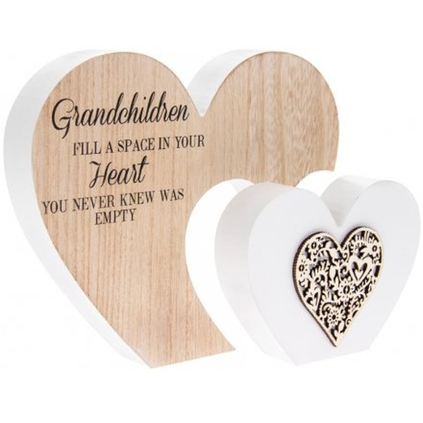 Fill A Space In Your Heart' Natural Toned Heart Plaque