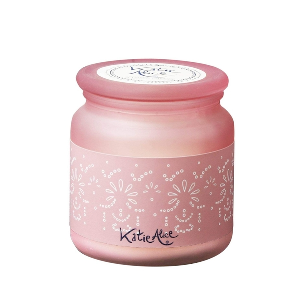 Katie Alice Wild Apricity Frosted Glass Wax Filled Jar Angel Flower Scent