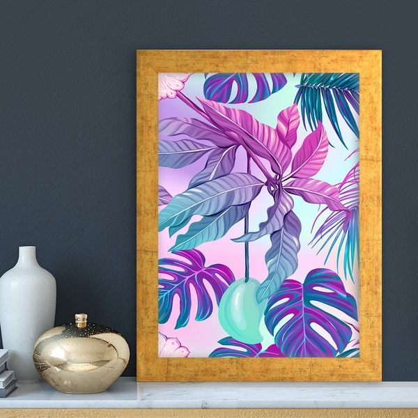 AC13055115042 Multicolor Decorative Framed MDF Painting