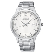 Seiko SGEH79P1  Quartz Movement Stainless Steel Bracelet Watch with White Dial