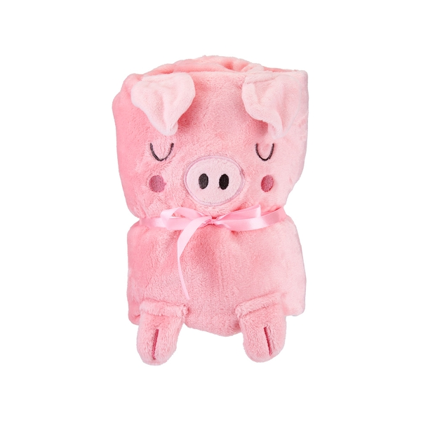 Sass & Belle Oink the Piglet Baby Blanket