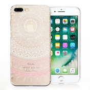 YouSave Accessories iPhone 7 Plus Mandala Printed Gel Case - White