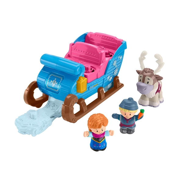 Fisher-price Little People Frozen 2 Kristoff's Sleigh Figure and Vehicle Set