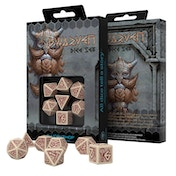 Q-Workshop Dwarven Beige & Burgundy Dice Set
