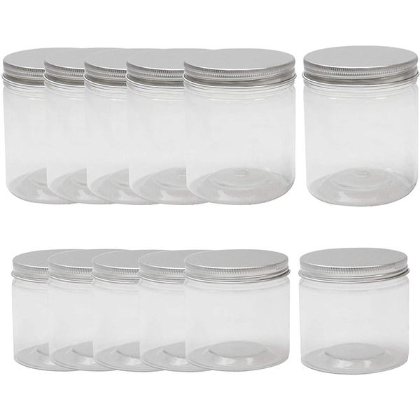 Plastic Storage Containers with Lids - Set of 12 | Pukkr