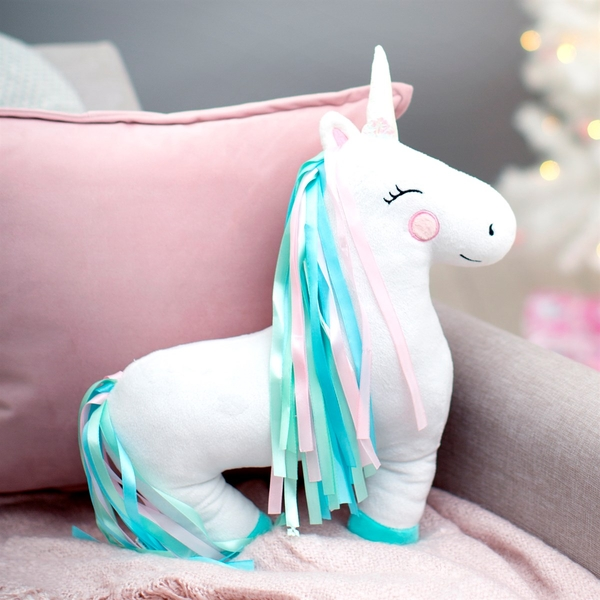 Sass & Belle Rainbow Unicorn Decorative Cushion