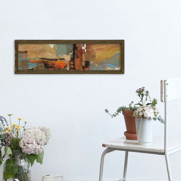 MZM733 Multicolor Decorative Framed MDF Painting