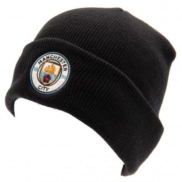 Manchester City FC Turn Up Navy Knitted Hat