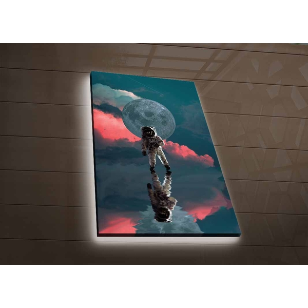 NASA-046 Multicolor Decorative Led Lighted Canvas Painting