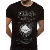 Harry Potter - Marauders Map Men's Large T-Shirt - Black