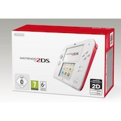 Nintendo 2DS Handheld Console Red & White UK Plug