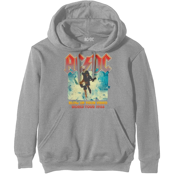 AC/DC - Blow Up Your Video Unisex Large Hoodie - Grey