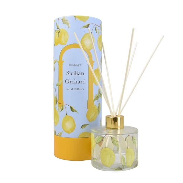 Sicilian Orchard Reed Diffuser in Gift Box Basil and Wild Lemon Scent 150ml