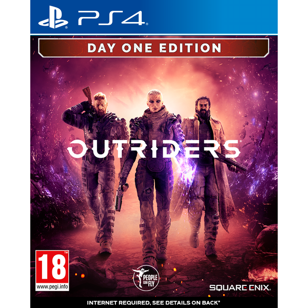 Outriders Day One Edition PS4 Game + Bonus 4 Art Cards